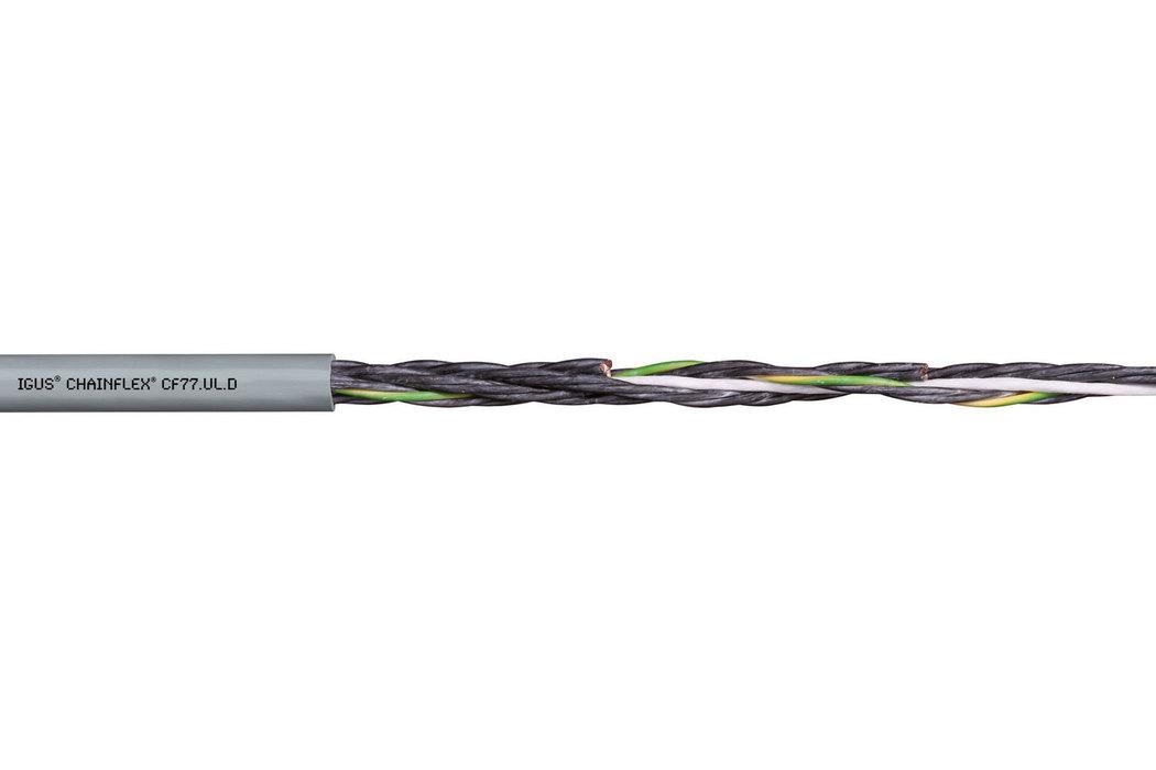 Специальный контрольный кабель CF77.UL.D для использования в гибких кабель-каналах