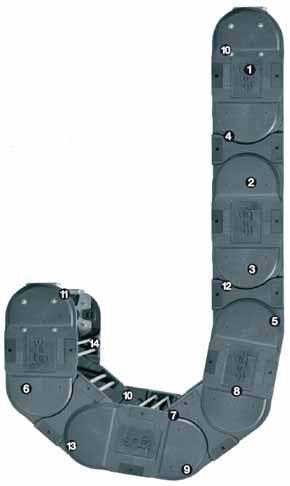 Серия Е4.350 - Цепь, открывающаяся с двух сторон с поперечными перемычками между каждым звеном