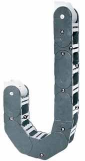 Серия 800 - Цепь на защелках с двух сторон с поперечными перемычками между каждым звеном